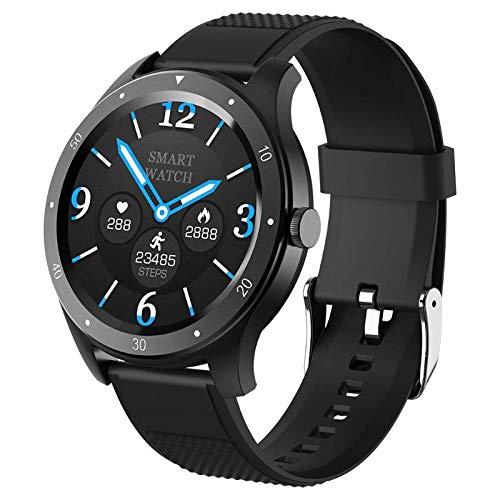HX0945 Full Touch S6 Smart Watch IP67 Waterproof Male Heart Rate Blood Pressure Monitor Smartwatch Fitness Bracelet,Black