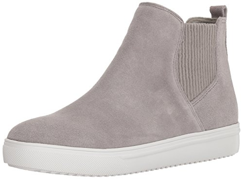 Blondo Women's Gennie Waterproof Sneaker, light grey suede, 7.5 M US