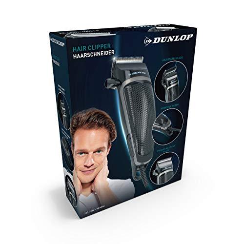 Dunlop Haarschneidemaschine Barttrimmer Haarschneider Trimmer - Extra einfach Haare schneiden - für Anfänger und Fortgeschrittene - Präzise leise Haartrimmer Langhaarschneider für Damen Herren