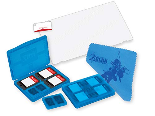 Officially Licensed Nintendo Switch Zelda: Breath of the Wild Game Traveler Protection Pack - Includes Game Case, SD Card Case, Screen Protector, Cleaning Cloth