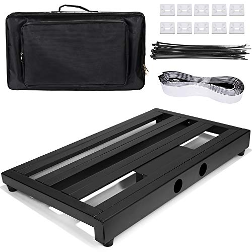 Luvay Guitar Pedal Board - Extra Large (22' x 12.6') with Bag, 7LB Pedalboard