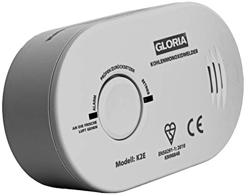 Gloria 25185500.0000 Kohlenmonoxid-Melder batteriebetrieben detektiert Kohlenmonoxid