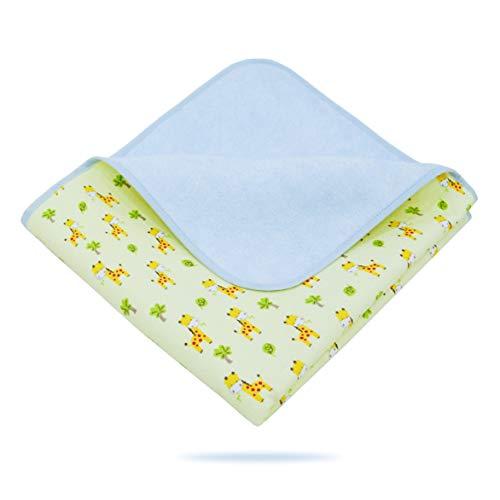 Elf Star Cotton Bamboo Fiber Breathable Waterproof Underpads Mattress Pad Sheet Protector for Children or Adults, Giraffe Print, 27'X47'