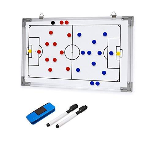 RoseFlower Carpeta táctica,Pizarra Táctica de Fútbol Imanes Coach Board para Entrenador Accesorios de Tablero de Entrenamiento
