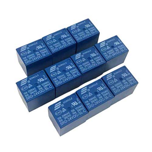 joyMerit Mini Relé de Potencia SRD DC PCB Tipo 5 Pines SPDT Usado en Control Remoto Nuevo