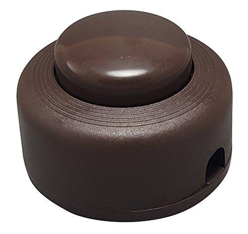 iLightingSupply 55-0336-45 On/Off Push Floor Switch, Brown