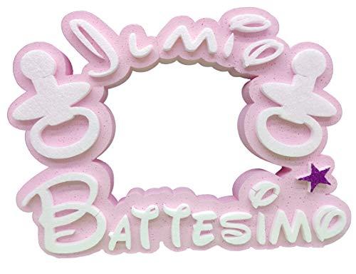 Generico - Poliestireno con texto para bautizo, niña recién nacida, para mujer, decoración de poliestireno, centro de mesa, rosa, 75 x 32 x 5 cm