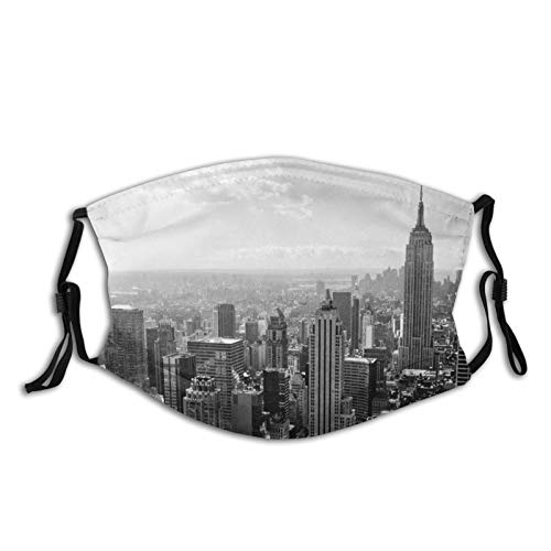 MayBlosom New York Skyline Máscara de polvo reutilizable para adultos con filtro de carbono