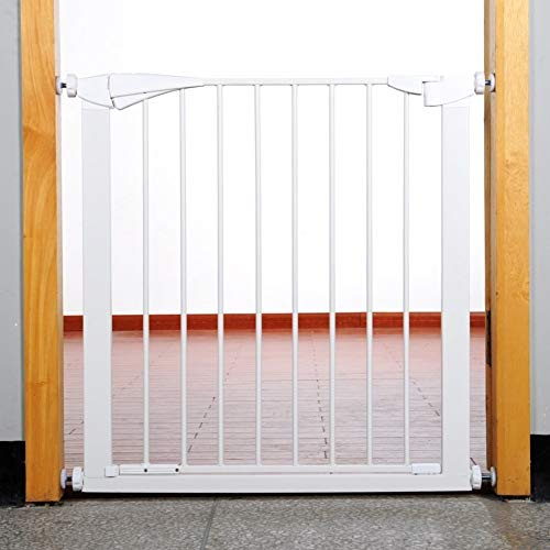 PNFP Indoor veiligheidsstore super breedte verstelbare baby deur metalen huisdierdeur voor katten hond wit omheining voor huisingangen trappen past ruimtes tussen 69-118 cm breedte