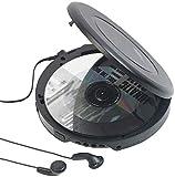 auvisio CD Spieler: Tragbarer CD-Player mit Ohrhörern, Bluetooth und Anti-Shock-Funktion (Mobiler CD Player)