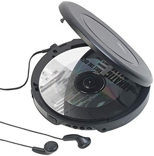 auvisio CD Spieler: Tragbarer CD-Player mit Ohrhörern, Bluetooth & Anti-Shock-Funktion (Portabler CD Player)
