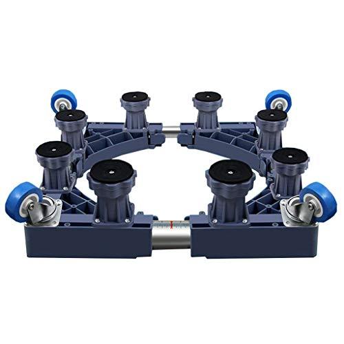 MY1MEY Base Adjustable Pedestal Waschmaschine Base Multifunktionale verstellbare Mobile Basiseinheit Basis für graues Trockenmittel Waschmaschine Kühlschrank