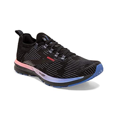 Brooks Ricochet 2, Zapatilla de Correr para Mujer, Black Blue Fiery Coral, 36.5 EU