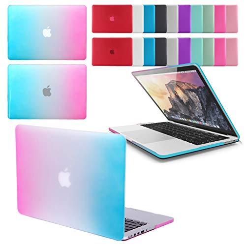 GUPi - Carcasa rígida de goma para Apple MacBook Pro de 13 y 15 pulgadas, pantalla Retina y Touch Bar (menú desplegable para seleccionar modelo y tamaño)