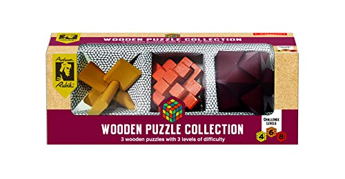 The Lagoon Group 9076 Rubik Colección de Rompecabezas de Madera, bambú sostenible
