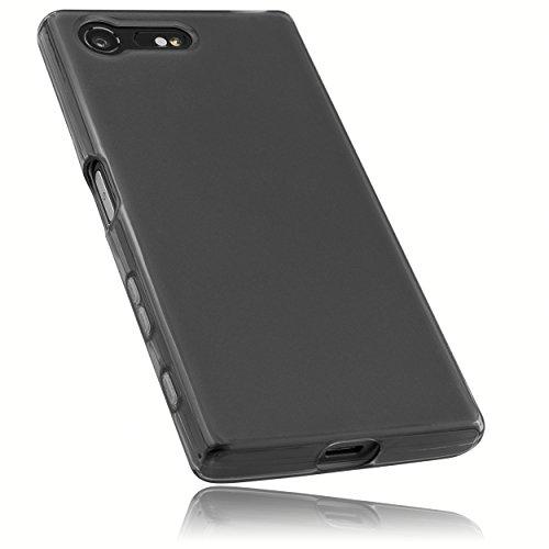 mumbi Hülle kompatibel mit Sony Xperia X Compact Handy Hülle Handyhülle, transparent schwarz