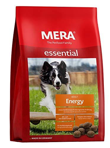 MERA essential Hundefutter Energy, Trockenfutter mit einer Rezeptur ohne Weizen für Hochleistungshunde, 1er Pack (1 x 12.5 kg)