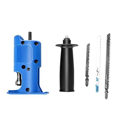 InLoveArts Taladro eléctrico modificado, adaptador de sierra eléctrico, sierra de sable eléctrica,...