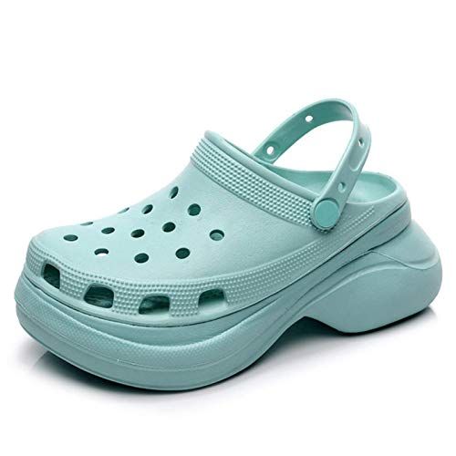 DQS Sandalias Zuecos Zapatos de Verano Plataforma para Mujer Zapatos de jardín Aumentar Croks al Aire Libre Zapatillas de Playa Pinzas