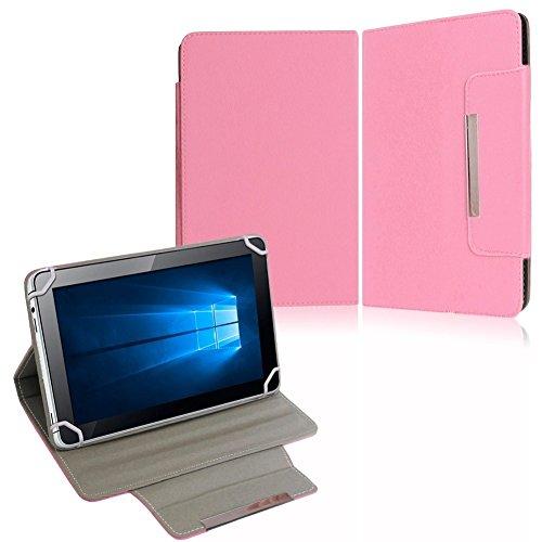 NAUC Tasche Hülle Schutzhülle für HP Pro Slate 8 Hülle Schutz Cover Schutzhülle, Farben:Rosa