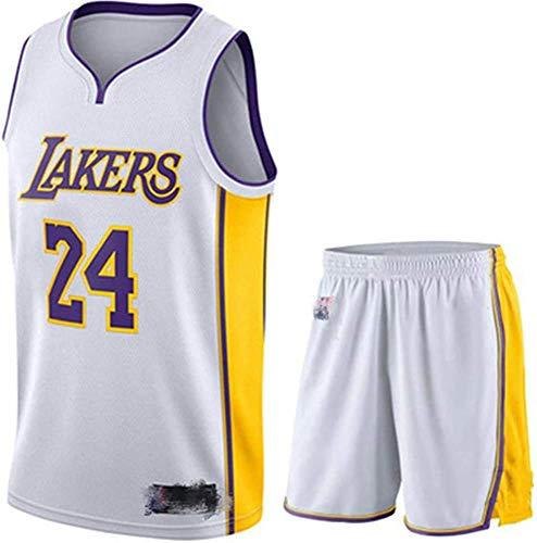 Camiseta De Baloncesto para Hombre Kobe No. 24 Los Angeles Lakers Traje De Baloncesto Deportivo Malla Transpirable Swingman Jersey Chaleco Pantalones Cortos Traje,C-5XL