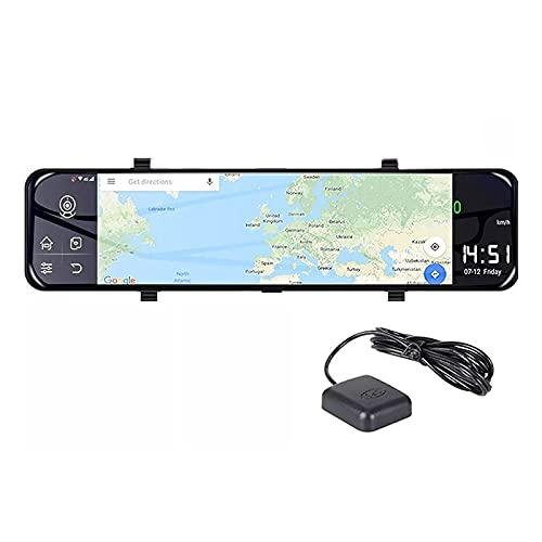 Lightofhope Specchietto Retrovisore per Auto da 12 Pollici Registratore Automatico Android 8.1 Specchietto Retrovisore per Auto Dvr 2GB + 32GB Specchietto per Visione Notturna Dvr Dash Cam