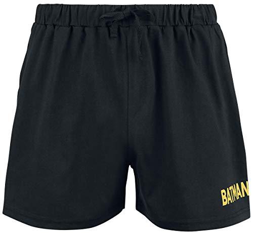 Batman Symbol Hombre Pijama Negro/Amarillo XL, 100% algodón,