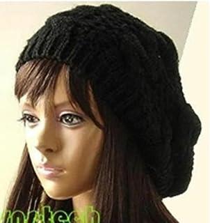 Monbedos Bonnet tricoté Chapeau épais d'automne et d'hiver Chapeau Chaud Béret Convient pour Les Femmes