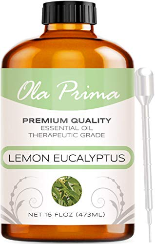 Ola Prima 16Oz - Premium Quality Lemon Eucalyptus Essential Oil (16 Ounce Bottle)