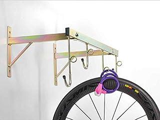Soporte de bicicletas para pared, desmontable, con anillas para candado y capacidad para 4plazas