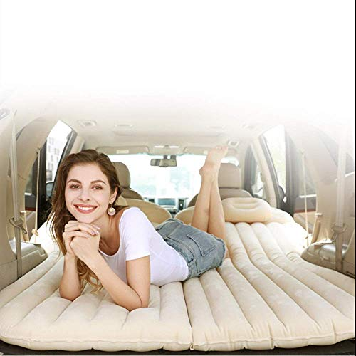 Materasso gonfiabile per auto Materasso gonfiabile per auto Materasso gonfiabile per auto Materassino floccato con cuscino integrato per attività all'aperto e letto interno con sacca gonfiabile per