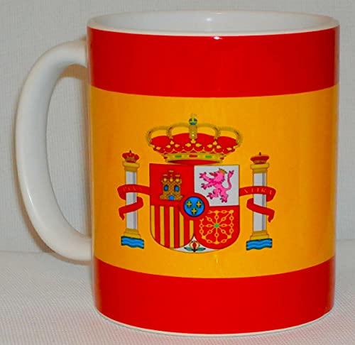 Taza de cerámica con bandera nacional española, regalo de España