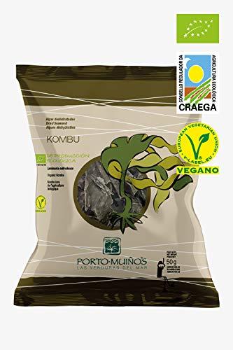 Porto Muñios - Alghe Disidratate Kombu da Produzione Biologica - 50 Grammi