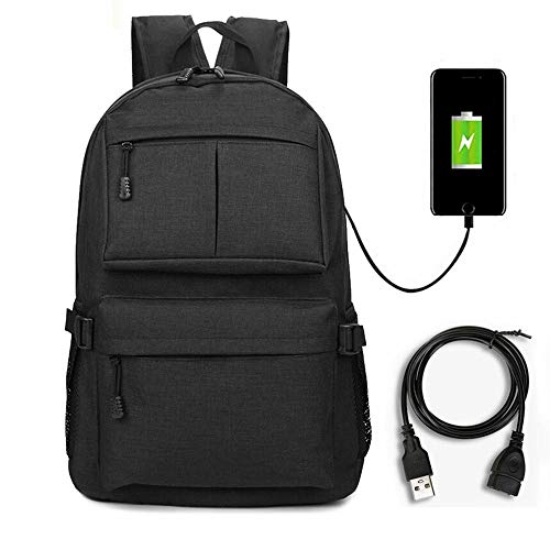 The Best Anti-theft Laptop Notebook Backpack +USB Charging & Cable School Bag #BHTY
