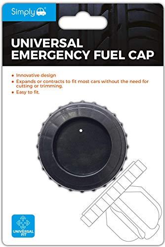 Simply EFC01 Notfall-Tankdeckel, universelle Passform, Flexibles Material für alle Autos und Lieferwagen, Schraubkopf, montieren, Benzin-Diesel-Ersatz, einfach drücken und ziehen, wiederverwendbar