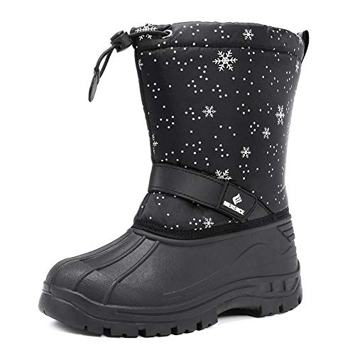 LONECONEInsulatingAll Weather MudBoots for Toddlers and Kids - Warm Neoprene Boots for Snow, Rain, and Muck - Rocket Launch, 6 Toddler