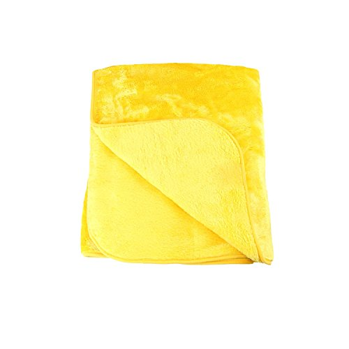 Amago Wohn- und Kuscheldecke, Cashmere-Feeling, Gelb/Orange, 130 x 170 cm, 40024-11-1317
