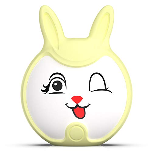 Shan-S Pocket Heater Hand Warmer,Portable Cute Rabbit Shape 6000mAh Electric USB Rechargeable Hand Warmer Mini Phone Power Bank Charger for Women Kids Home Office Best Gift in Cold Winter