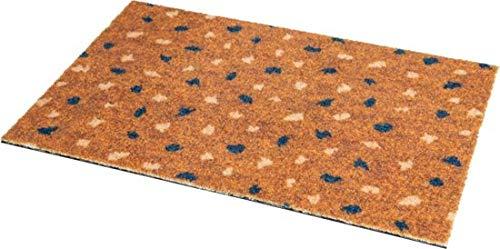 Kokosmatte fußmatte - Studio M OPTIBRUSH - Kunsthandwerkliche Fussmatte, aus Kunststoff - Fußmatte 40x60 - Fussmatte aussen kokos - fußmatte Ocker