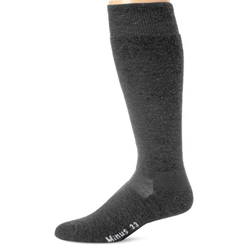 Minus33 Merino Wool Ski- und Snowboardsocke Grey Heather Small