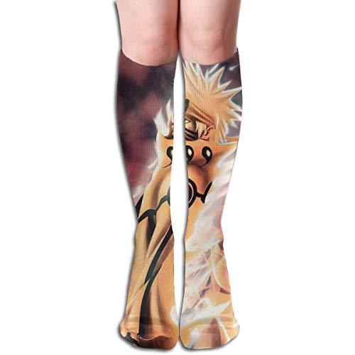 liangchunmei Kniehohe Socken Naruto Sasuke Sakura Coole Stiefelsocken für Mädchen Frauen