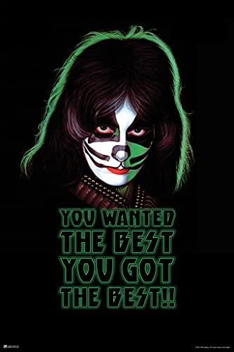 Kiss Poster Catman Peter Criss Solo Album You Wanted The Best You Got The Best Kiss Band Merchandise Kiss Collectibles Kiss Memorabilia Heavy Metal Merch 1970s Cool Wall Decor Art Print Poster 12x18