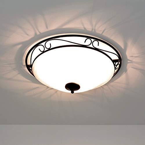 Rustikale D47 cm Deckenleuchte Deckenlampe im Landhausstil 3 x E27 Fassung Lampe Leuchte