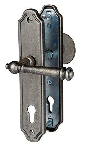 Haustür Schutzbeschlag Kos LS Antik Iron HS 92 mm Kn - Dr Türdrücker