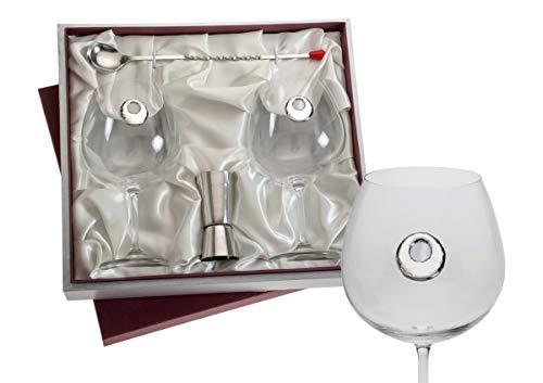 El Faro Copas Gin Tonic Personalizadas con Plata bilaminada 840 ml