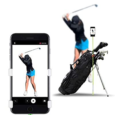 SelfieGOLF Record Golf Swing - Cell Phone Holder Golf Analyzer Accessories | Winner of The PGA Best Product | Selfie Putting Training Aids Works with Any Golf Bag and Alignment Stick by Selfie Golf