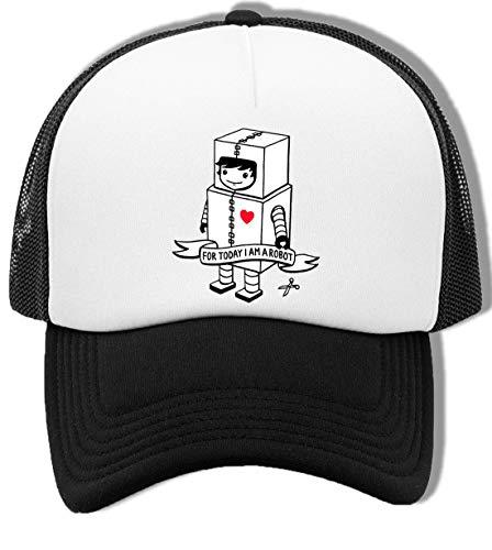 Luxogo For Today I Am A Robot Gorra Snapback De Béisbol para Niños y Niñas Boys Girls Baseball Cap
