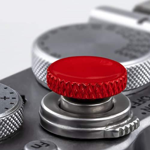 Soft Shutter Release Button (2 Pack/Red) high-end Pure Copper Camera Shutter Button