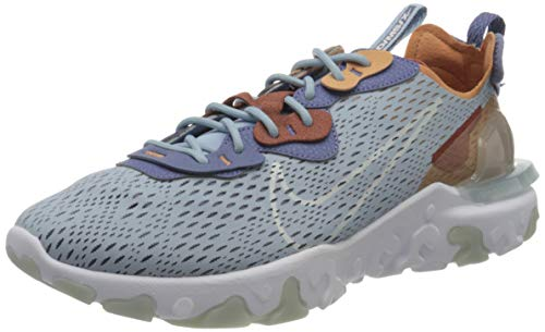 Nike React Vision, Zapatillas para Correr Hombre, Lt Armory Blue Pure Platinum Amber Brown Claystone Red World Indigo, 40 EU