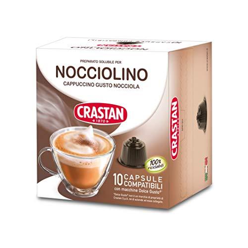 Crastan Capsule Compatibili Dolce Gusto - Nocciolino - 10 Confezioni da 10 Capsule [100 Capsule]
